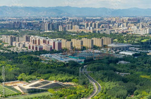 Foto op Plexiglas Peking Beijing panoramic view of the city landscape