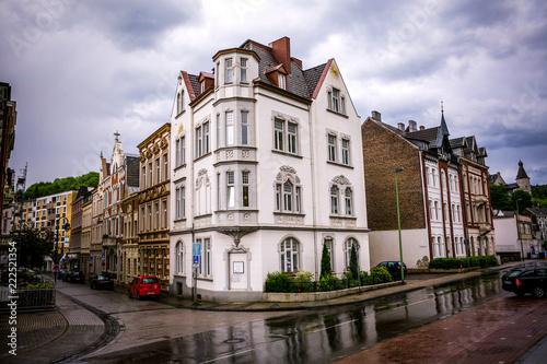 Keuken foto achterwand Oude gebouw old stone buildings in the rain