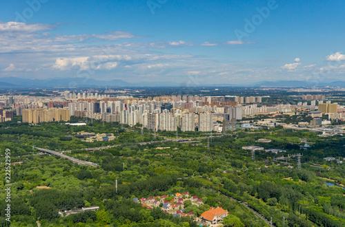 Foto op Aluminium Beijing Beijing panoramic view of the city landscape