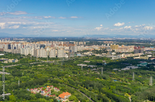 Beijing panoramic view of the city landscape