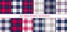 Vector Set Of 12 Tartan Patter...