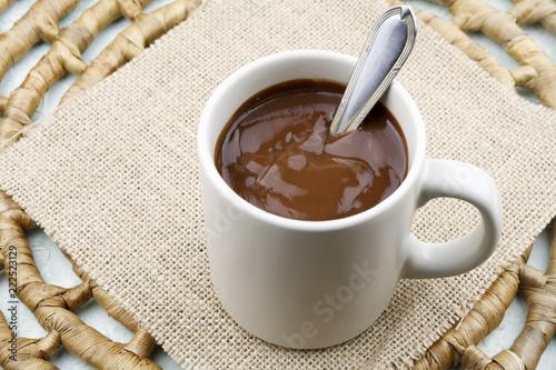 Foto op Plexiglas Chocolade Mug with hot chocolate