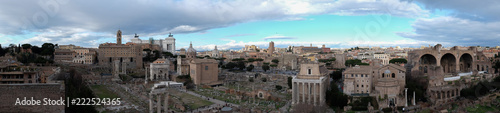 Fotobehang Lichtblauw Panoramic view of the Roman Forum