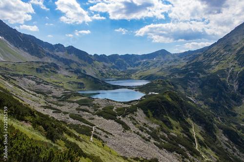 Mountain lake in 5 lakes valley in Tatra Mountains, Poland
