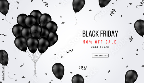 Fotografia  Black Friday Sale Banner