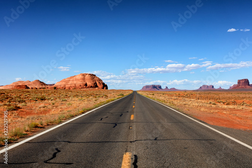 Tuinposter Verenigde Staten Highway to the Grand Canyon via Utah in United States
