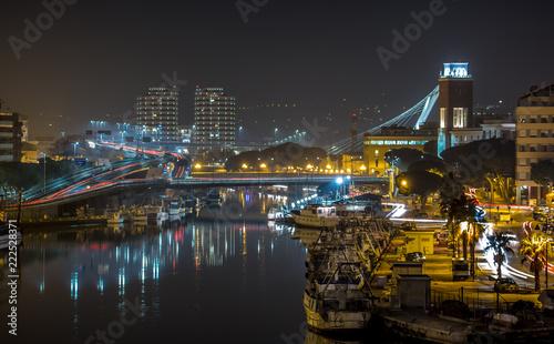Fotografie, Obraz  Pescara by night - Porto canale