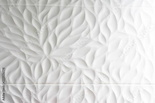 Fotografia  White relief wall
