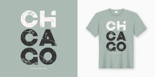Chicago Stylish T-shirt And Apparel Design. Vector Print, Typogr
