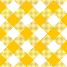 Yellow Fabric Texture. Vector Illustration.