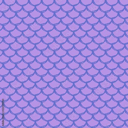 Mermaid Scale Seamless Pattern Fish Skin Texture Tillable
