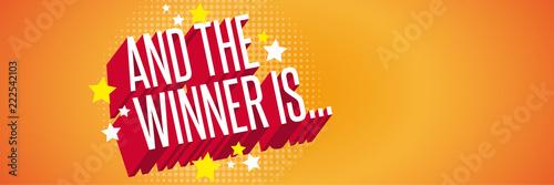 Fototapeta And the winner is...