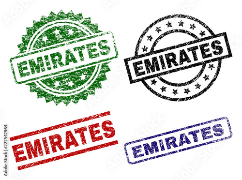 Fotografie, Obraz  EMIRATES seal prints with corroded surface