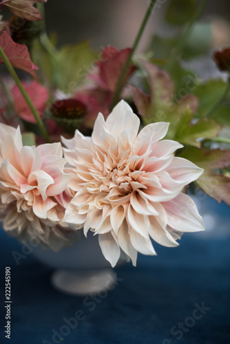 Dahlia in a table flower arrangement at a wedding