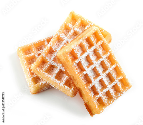 Cuadros en Lienzo waffles with powdered sugar