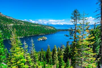 Panel Szklany Rzeki i Jeziora Beautiful Day in Lake Tahoe, California