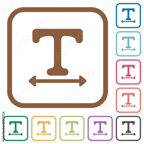 Fényképezés  Adjust font width simple icons