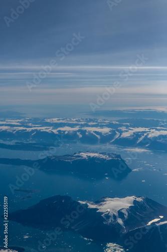 Papiers peints Arctique Greenland landscape from 30,000 ft