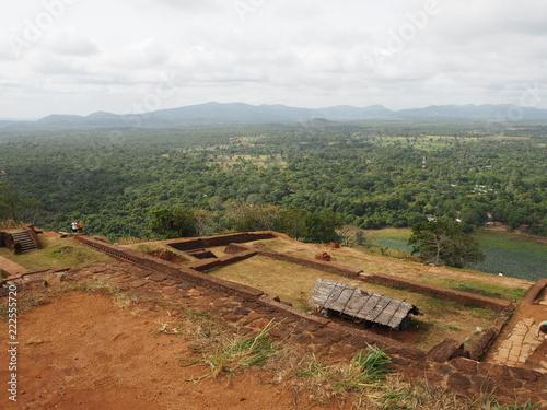 Spoed Foto op Canvas Khaki Sigiriya Rock in Sri Lanka