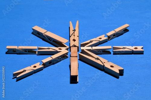 Fotografie, Obraz  木製のクリップ