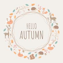 Round Pattern Design Of Autumn...