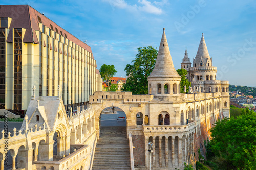 Fisherman's Bastion in Budapest city, Hungary Fototapete