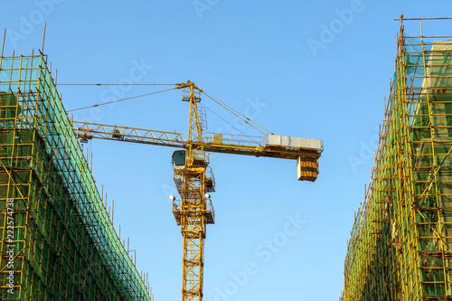 Keuken foto achterwand Stad gebouw Skyscraper construction site