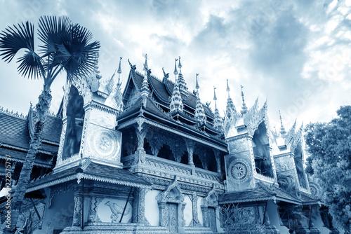 Tuinposter Historisch geb. Xishuangbanna temple architecture