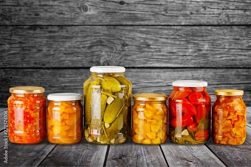 Home Canning Jars of Summer Harvest Vegetable