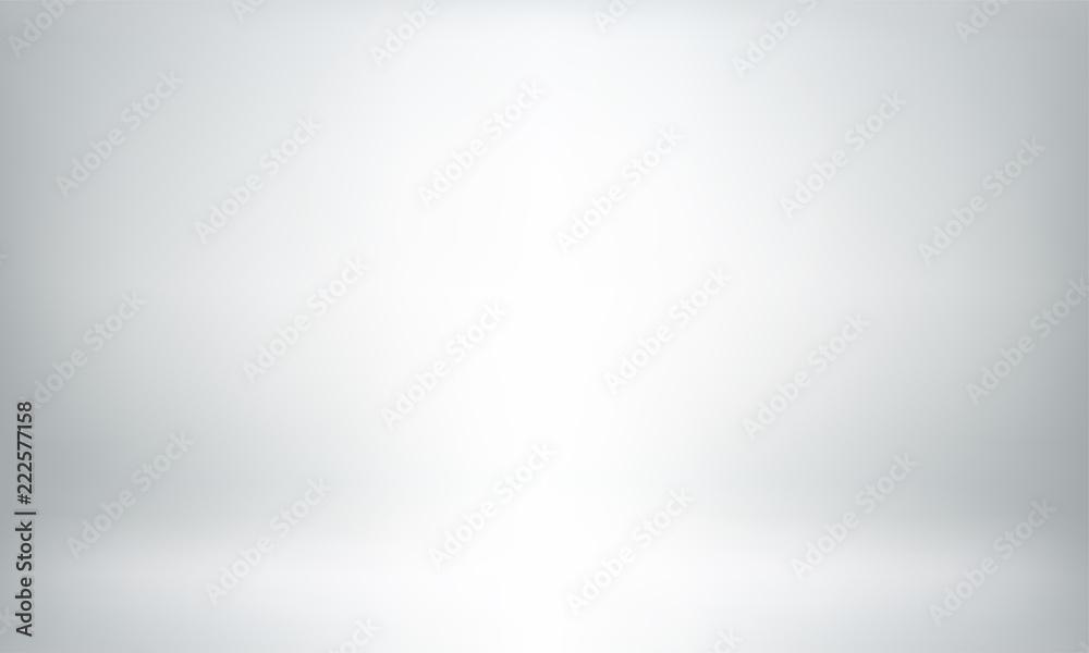 Fototapeta Gray studio background or backdrop 3D room lightbox