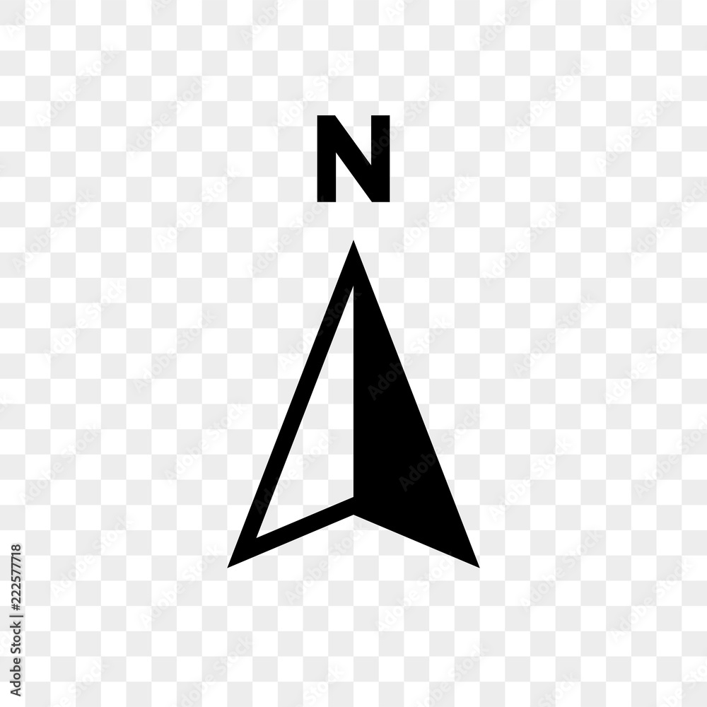 Fototapety, obrazy: North arrow icon N direction vector point symbol