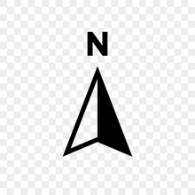 North Arrow Icon N Direction V...