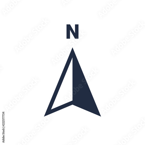 North arrow icon N direction vector point symbol Wall mural
