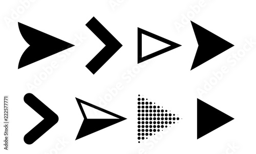 Arrow icons vector direction pointers symbols Canvas Print