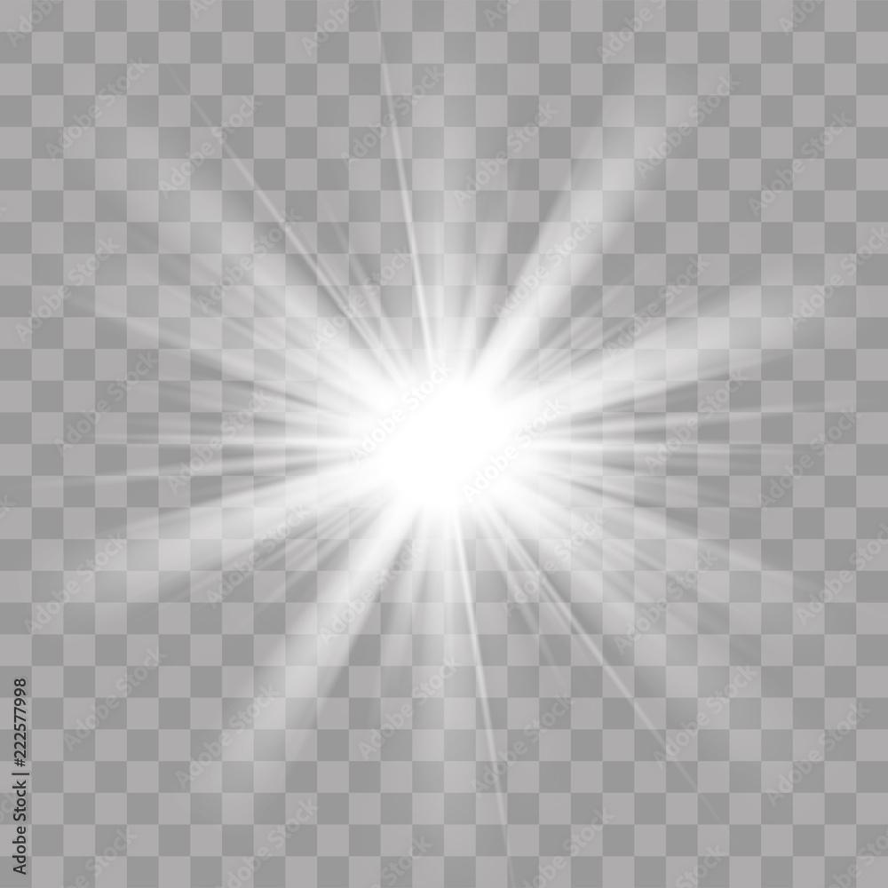 Fototapety, obrazy: Light rays flash sun star shine radiance effect