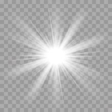 Light Rays Flash Sun Star Shine Radiance Effect