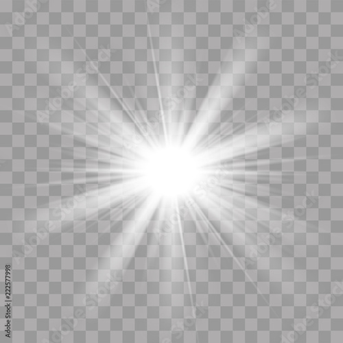 Fotomural  Light rays flash sun star shine radiance effect