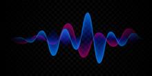 Sound Wave Voice Line Or Pulse...