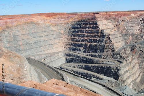 Foto op Aluminium Zalm Super pit , Kalgoorlie W.A. Goldmine.