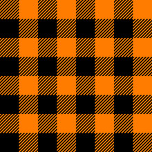 Tartan Black And Orange Seamless Texture