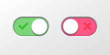 Toggle Button Switch Slider Vector Web UI Icons