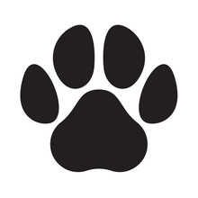 Paw Logo Cat Dog Animal Pet Vector Footprint Icon