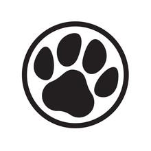 Paw Logo Cat Dog Animal Pet Fo...
