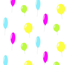 Colorful Balloons Pattern,seam...