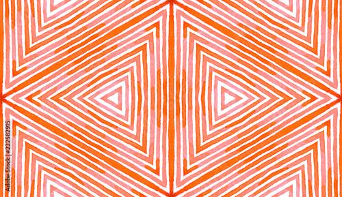 Fotografía  Pink red Geometric Watercolor