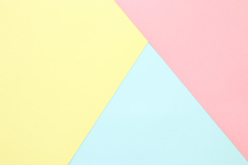 Abstract pastel colored paper texture. Minimal geometric shapes and lines. trendy design concept.
