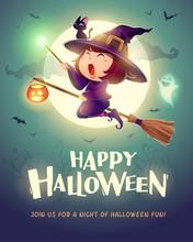 Happy Halloween. Halloween Fly...