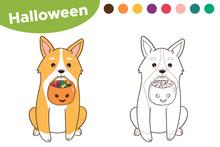 Halloween Coloring Page For Ki...