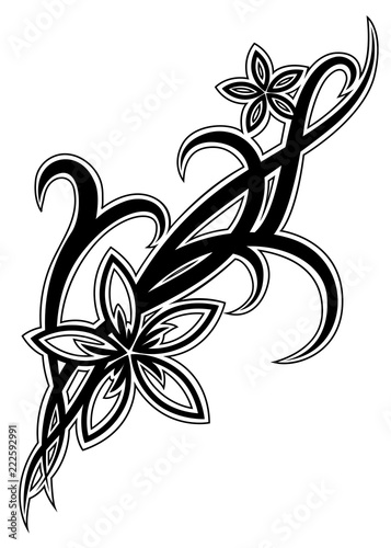 0aacf1f78 Tribal flower tattoo illustration - Buy this stock vector and ...