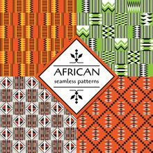 African Ethnic Seamless Pattern. Geometric Design.